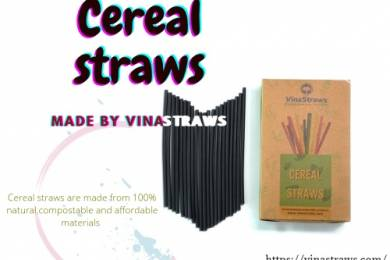 OUR SMOOTHIE COLLECTION CEREAL STRAWS WIDE 8MM DIAMETER BLACK